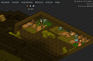 Gnomes making things in a way totally different than Dwarf Fortress!  ...You know...  in workshops.  and stuff.